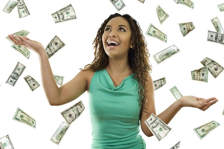 girl with floating money wpshopmart