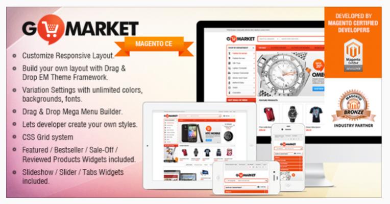 Gala GoMarket - 47 Best Premium E-commerce Magento Themes 2019