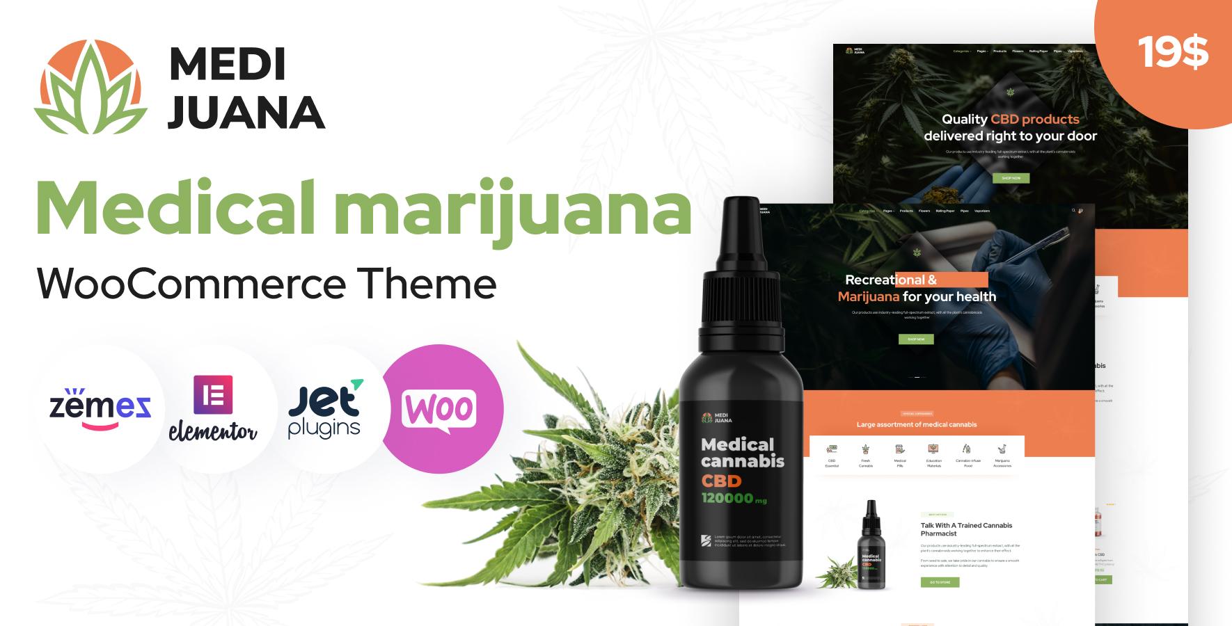 Medijuana Medical Cannabis WordPress Theme