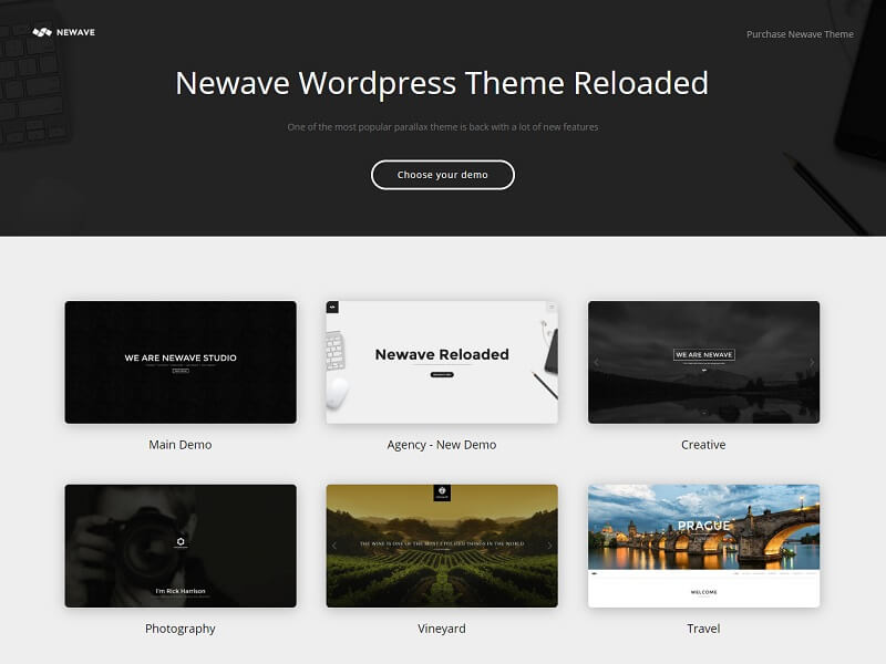 Newave One Page WordPress Themes