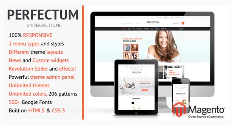 Perfectum - 47 Best Premium E-commerce Magento Themes 2019