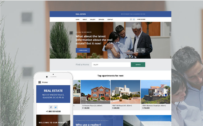 Real State Agency Website