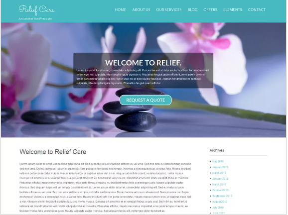 Relief Free Spa Salon WordPress Themes