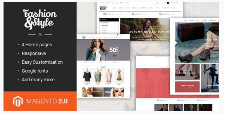 Ves Fashion - 47 Best Premium E-commerce Magento Themes 2019