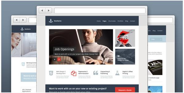 anchhora Best PSD Website Templates
