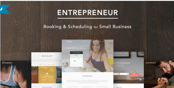 entreprenuer Best One Page WordPress Themes