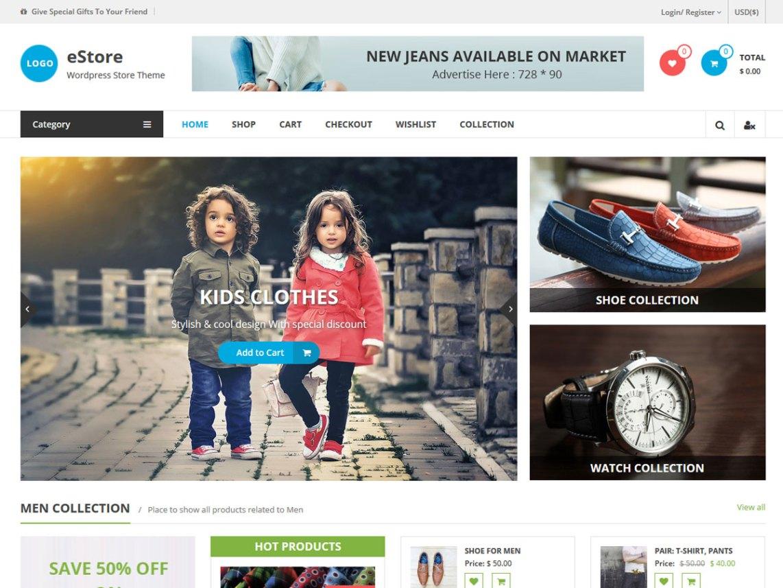 Free eCommerce WordPress Themes