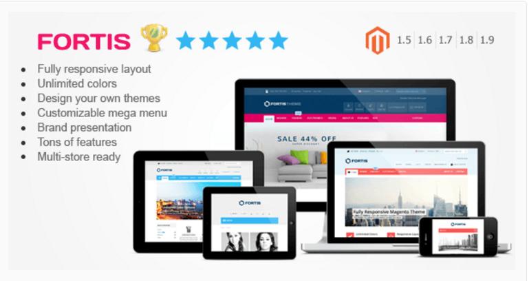 fortis - 47 Best Premium E-commerce Magento Themes 2019