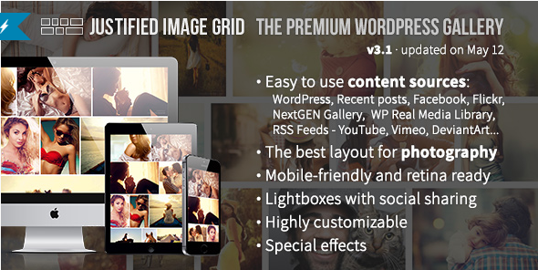 justified Best WordPress Premium Photo Gallery Plugins