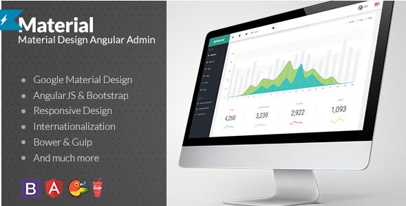 material design Best Responsive HTML Templates wpshopmart