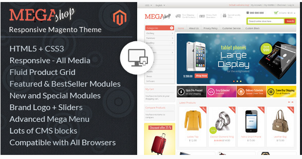 mega shop Best Magento Themes wpshopmart