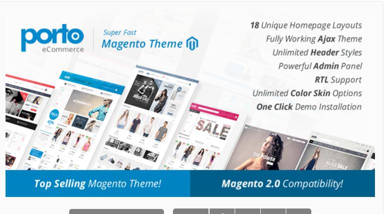 porto - 47 Best Premium E-commerce Magento Themes 2019