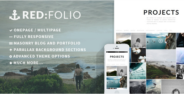 redfolio One Page WordPress Themes