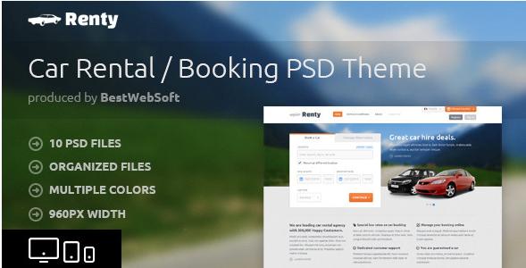 renty Best PSD Website Templates wpshopmart