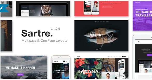 sartre Best Responsive HTML5 Templates wpshopmart