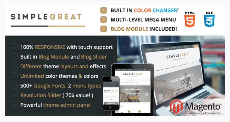 simple Great - 47 Best Premium E-commerce Magento Themes 2019