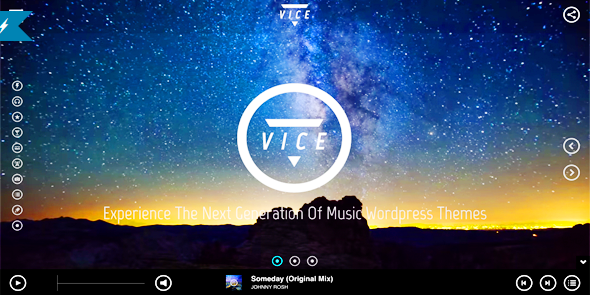 vice Best One Page WordPress Themes