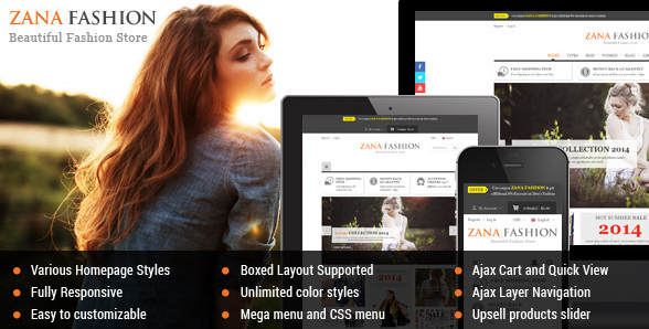 zana fashion Best Magento Themes wpshopmart