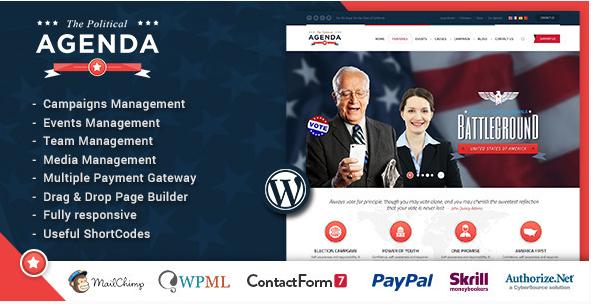 AGENDA Best Political WordPress Themes