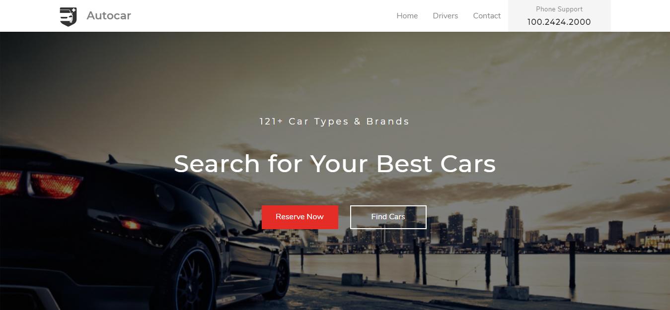 Autocar car dealership WordPress theme Codethemes