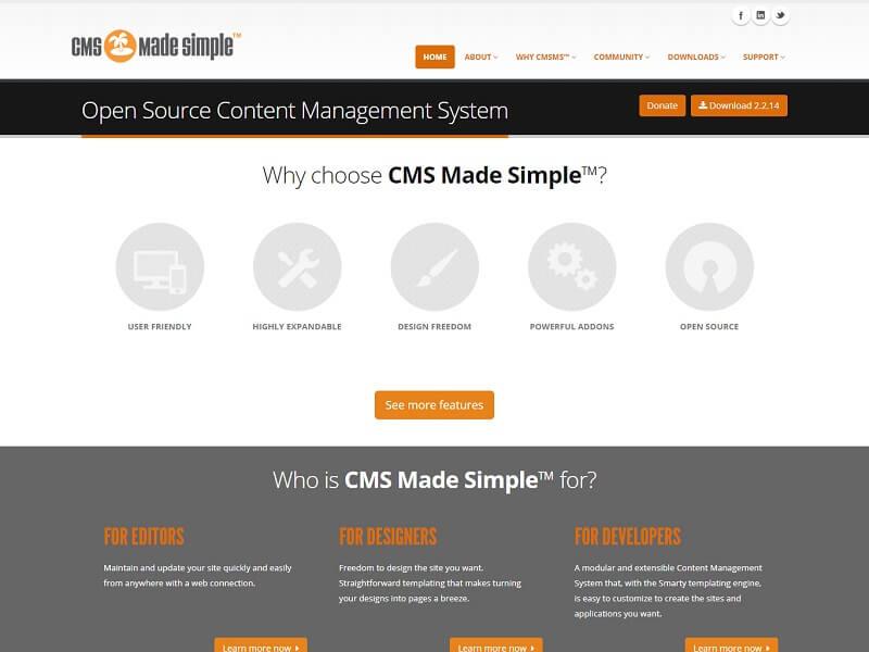 Best CMS Made Simple