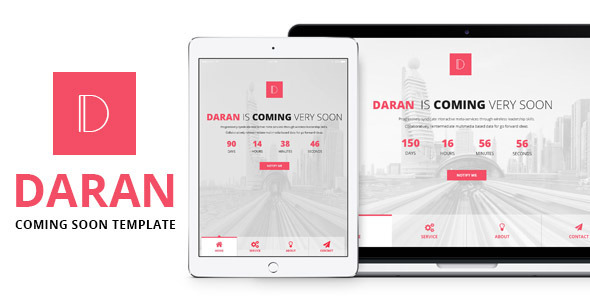 Daran - Responsive Coming Soon Template