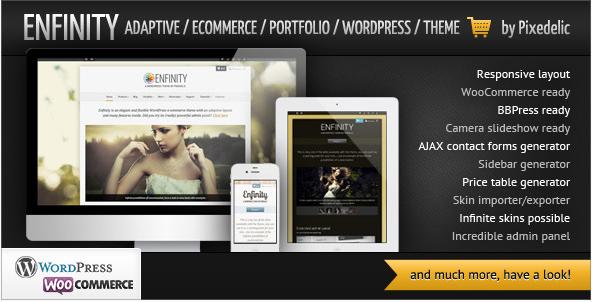 ENFINITY Best Dark WordPress Themes
