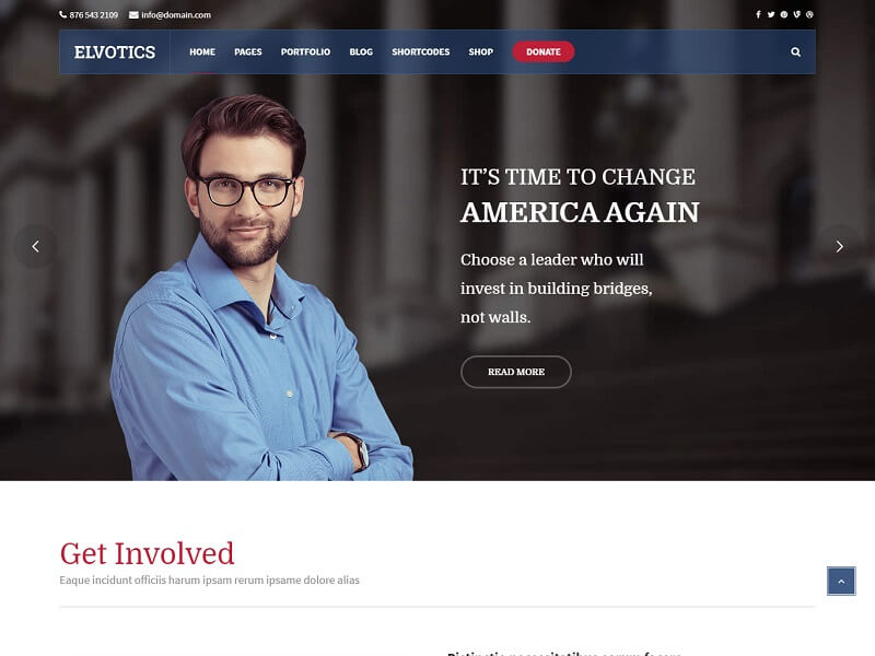 Elvotics Best Political WordPress Themes