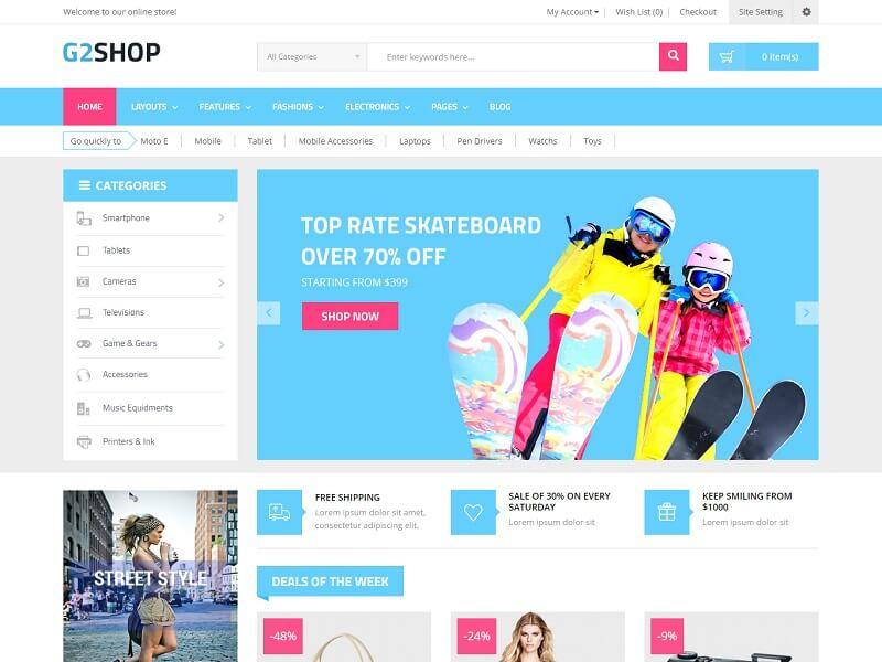 G2shop: Best OpenCart eCommerce Themes