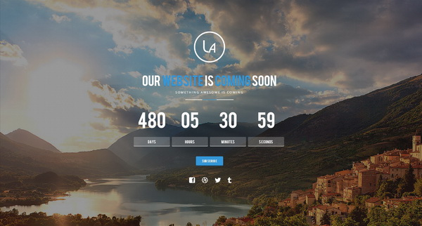 Laxy-Responsive-Coming-Soon-Template