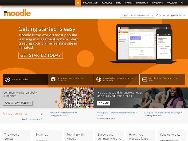 Moodle PHP CMS