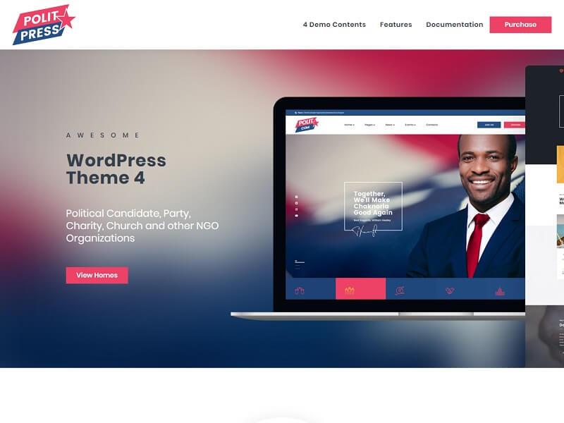 Politpress Best Political WordPress Themes