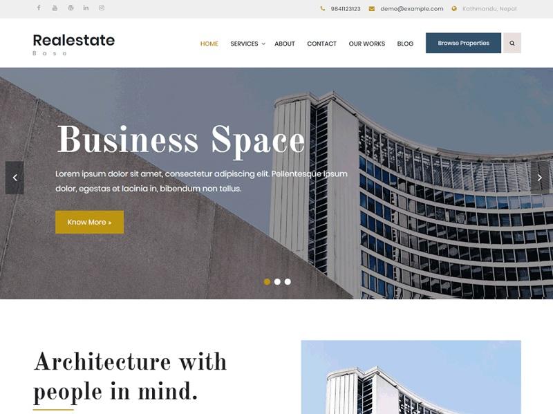 Realestate Base Free Real Estate WordPress Themes
