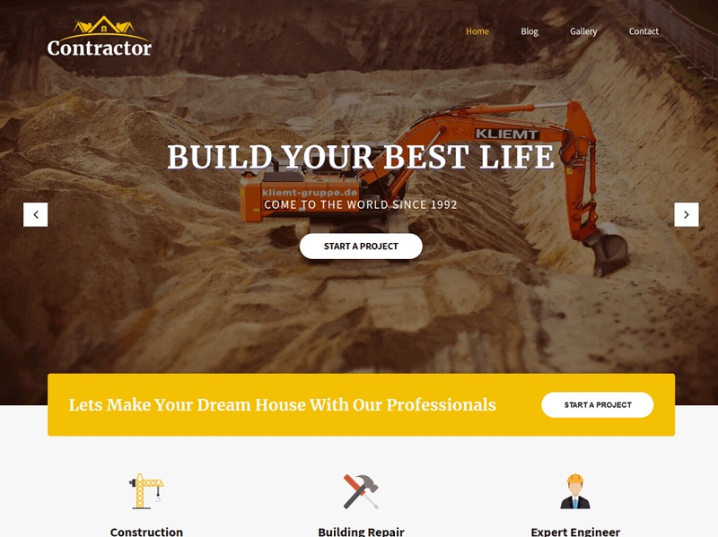 SKT Contractor Free Construction Company WordPress Themes