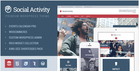 SOCIAL ACTIVITY Best Political WordPress Themes