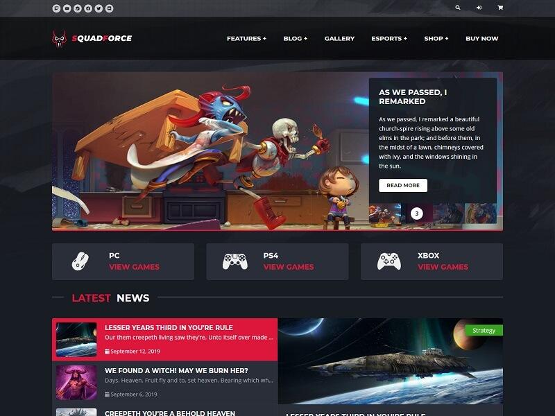 SquadForce: Best WordPress Gaming Themes