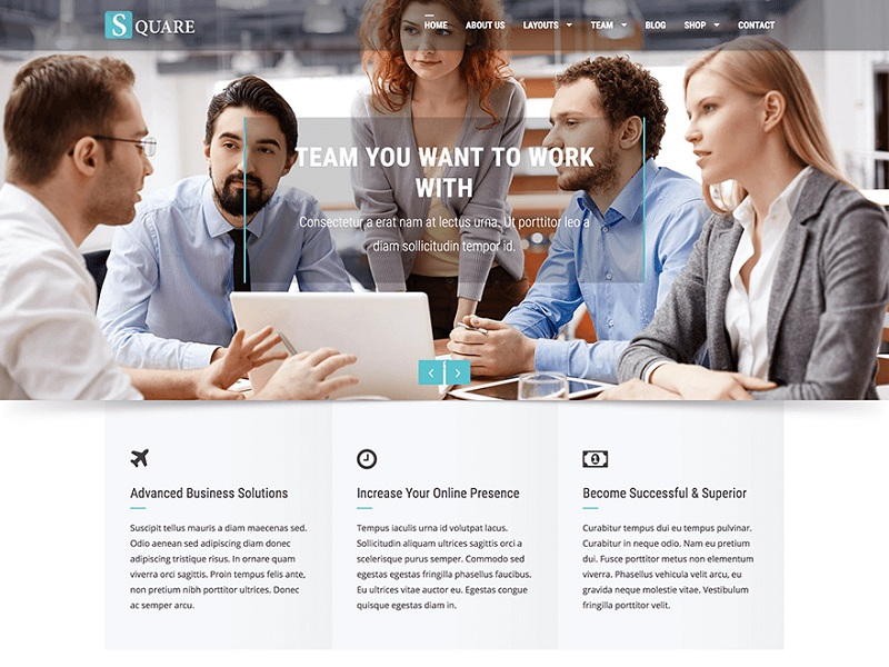 Square Free Creative Agency WordPress Themes
