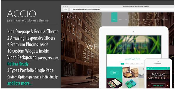 accio Best Responsive WordPress Parallax Themes