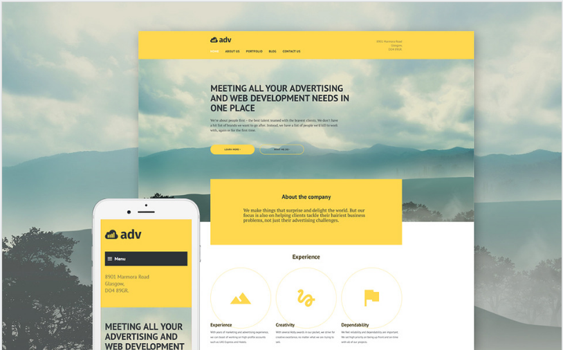adv Best Corporate Html Templates