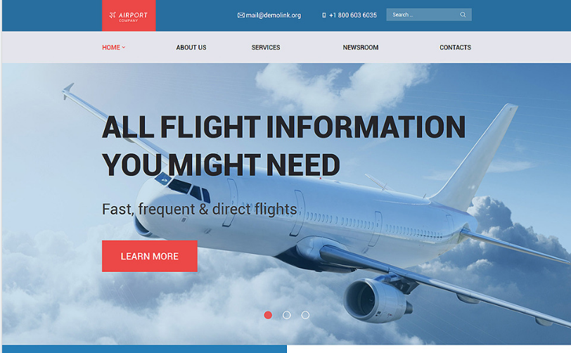airfare Best Corporate Html Templates