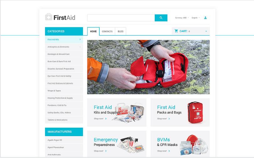 Ambulance: Best OpenCart eCommerce Themes