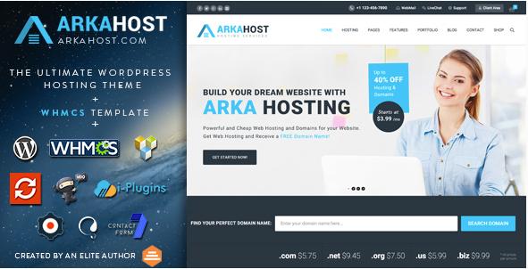arka host Best Hosting WordPress Themes wpshopmart
