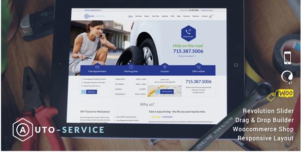 auto service Car Dealer WordPress Themes wpshopmart