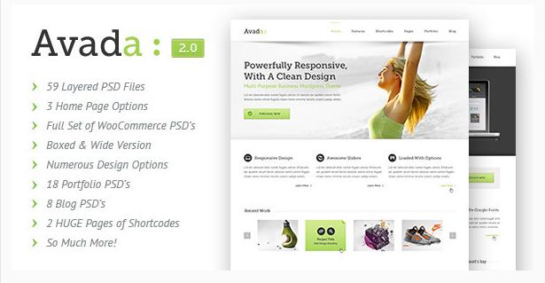 avada PSD Website Templates wpshopmart