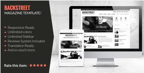 backstreet Best Dark WordPress Themes
