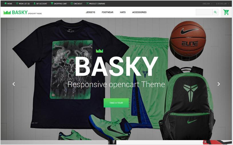 Basky: Best OpenCart eCommerce Themes
