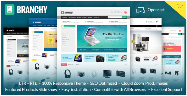 Branchy: Best OpenCart eCommerce Themes