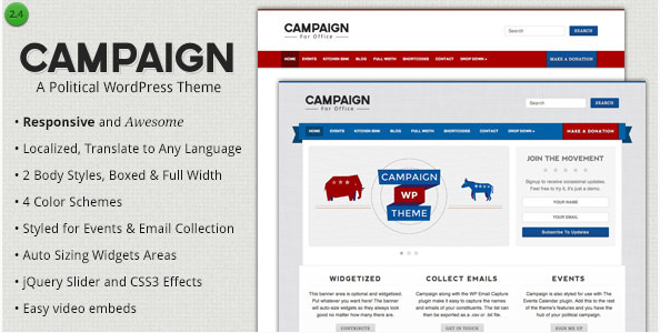 campaign Best Political WordPress Themes wpshopmart