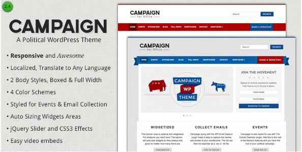 campaign Best Political WordPress Themes wpshopmart