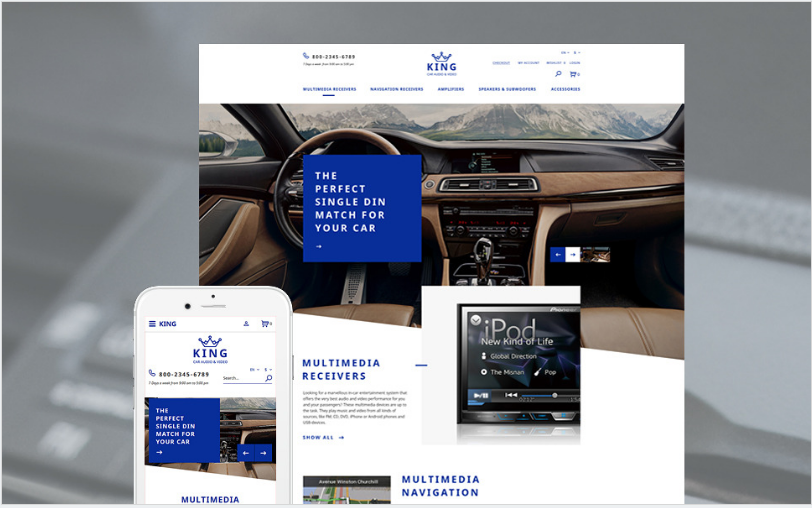 Car Audio: Best OpenCart eCommerce Themes